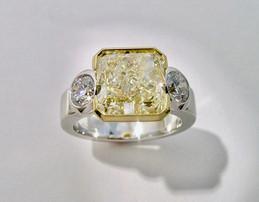 Yellow Diamond 'Trio' Ring