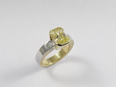 Yellow Diamond 'Evolution' Ring