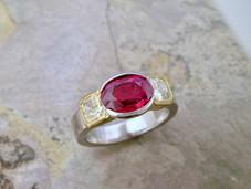 Ruby & Yellow Diamond Trio Ring