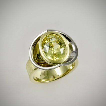 Yellow Sapphire 'Reflector' Ring