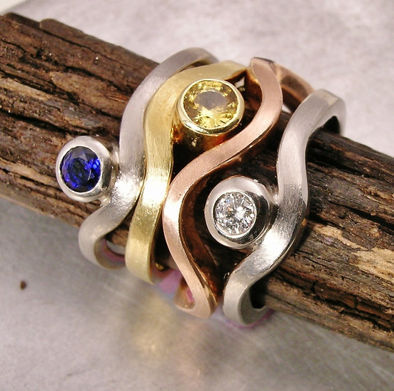 Wave Ring Stack