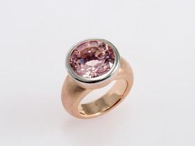 Morganite Byzantine Ring