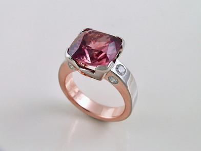 Rose Zircon 'Evolution' Ring