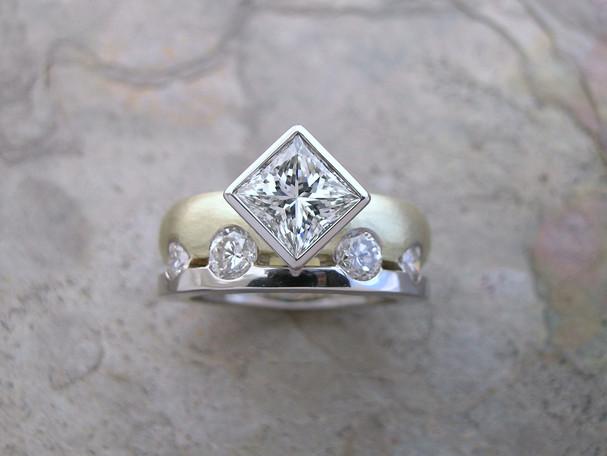 Custom Diamond 'Two into One' Ring