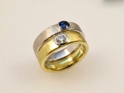Men's Gem 'Geo' Ring
