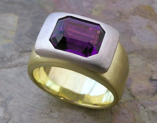 Amethyst 'Boulder' Ring