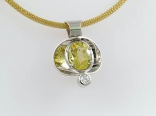 Yellow Sapphire 'Reflector' Pendant