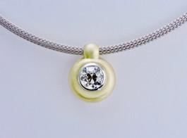 Diamond 'Pebble Bead' Pendant