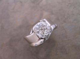 Custom Cushion 'Wave' Diamond Ring