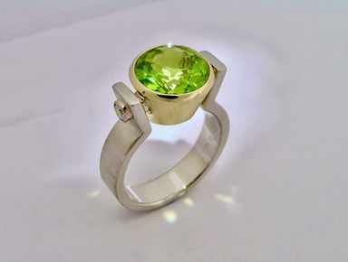 Peridot 'Chalice' Ring