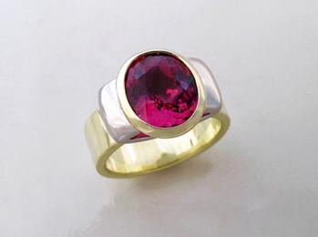 Pink Tourmaline 'Spring' Ring