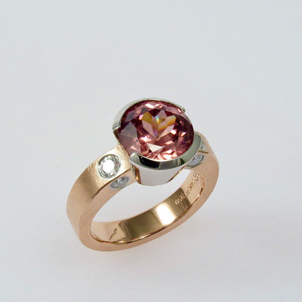 Rose Zircon 'Open Gem' Ring