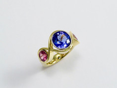 Tanzanite & Umbalite 'Braid' Ring