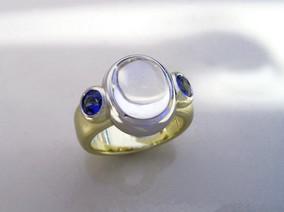 Moonstone Sapphire Ring