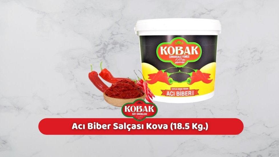 Kobak Acı Biber Salçası Kova (18.5 Kg.)