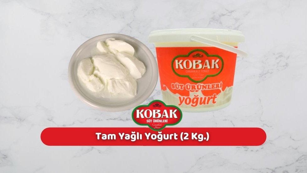 Kobak Tam Yağlı Yoğurt (2 Kg.)