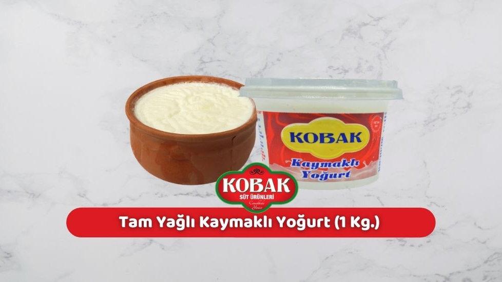 Kobak Tam Yağlı Kaymaklı Yoğurt (1 Kg.)