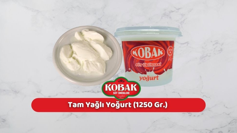 Kobak Tam Yağlı Yoğurt (1.250 Gr.)