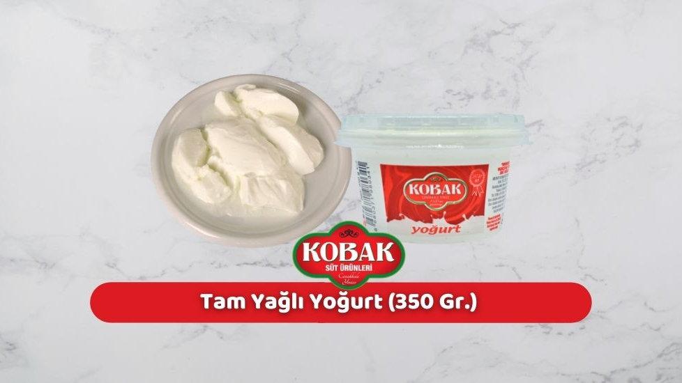Kobak Tam Yağlı Yoğurt (350 Gr.)