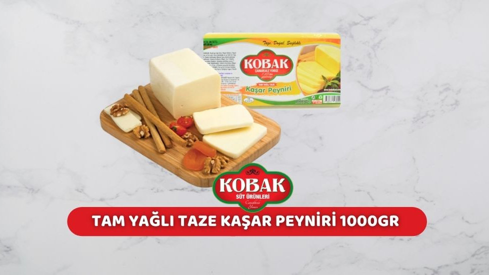 Kobak Tam Yağlı Kaşar Peyniri (1 Kg.)