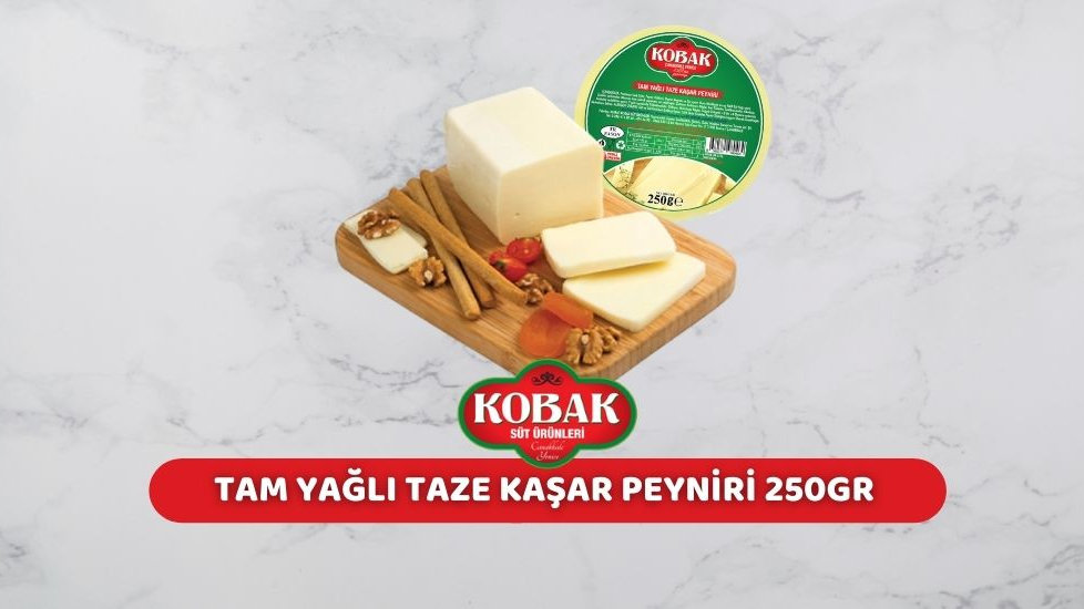 Kobak Tam Yağlı Kaşar Peyniri (250 Gr.)