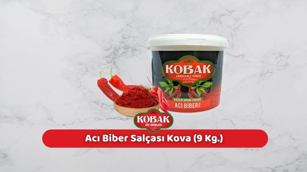 Kobak Acı Biber Salçası Kova (9 Kg.)