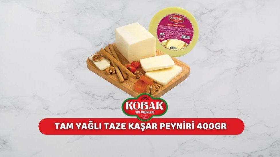 Kobak Tam Yağlı Kaşar Peyniri (400 Gr.)
