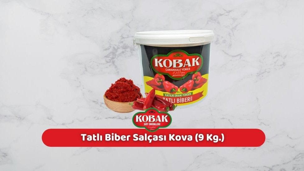 Kobak Tatlı Biber Salçası Kova (9 Kg.)