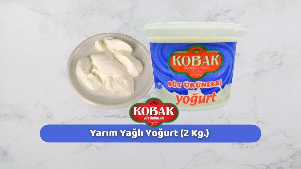 Kobak Yarım Yağlı Yoğurt (2 Kg.)