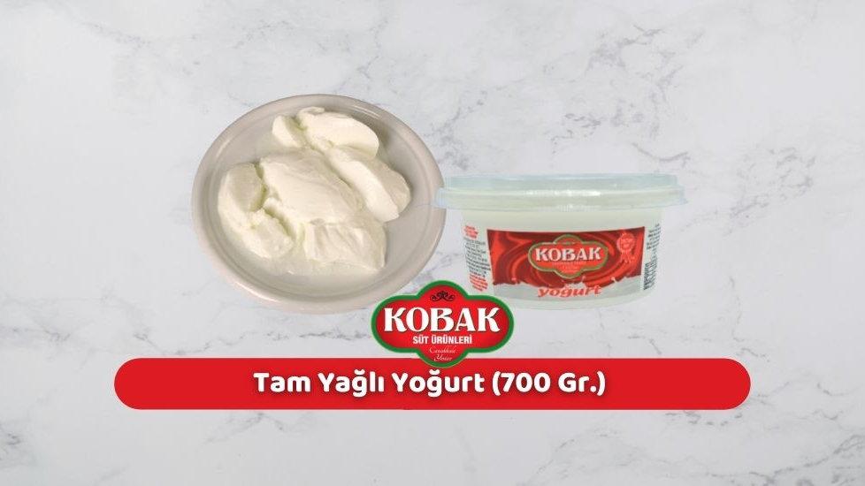 Kobak Tam Yağlı Yoğurt (700 Gr.)