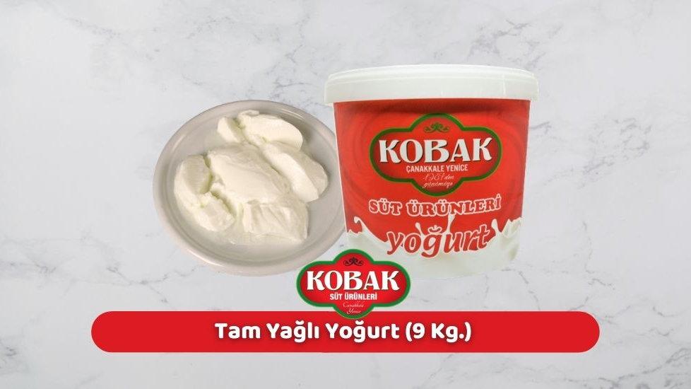 Kobak Tam Yağlı Yoğurt (9 Kg.)