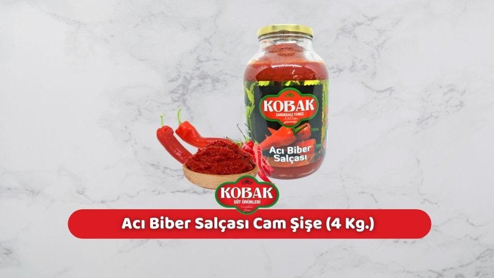 Kobak Acı Biber Salçası Cam Şişe (4 Kg.)