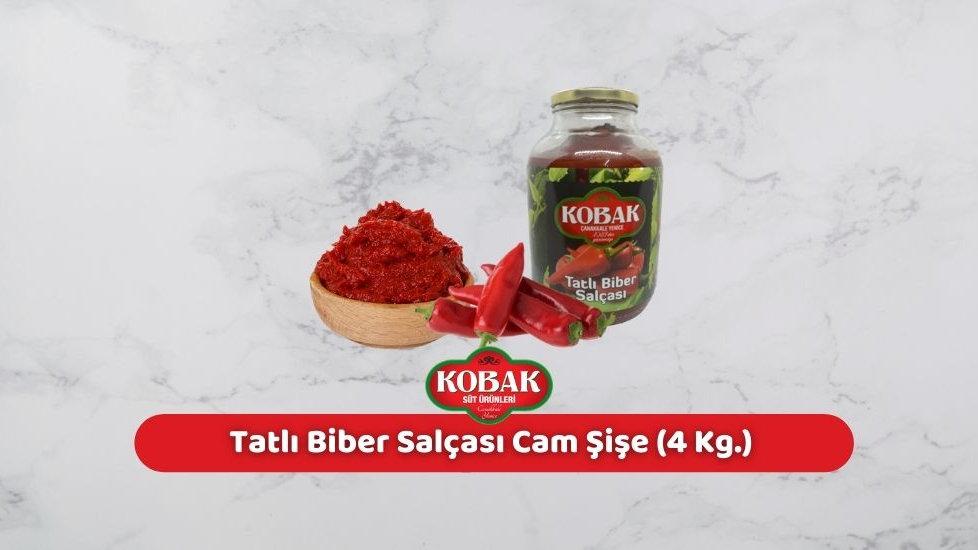 Kobak Tatlı Biber Salçası Cam Şişe (4 Kg.)
