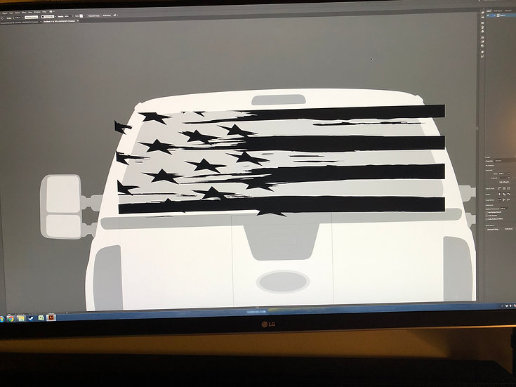 Tattered Rear Window Flag