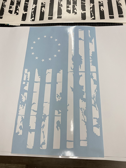 Betsy Ross Vertical Distressed Flag