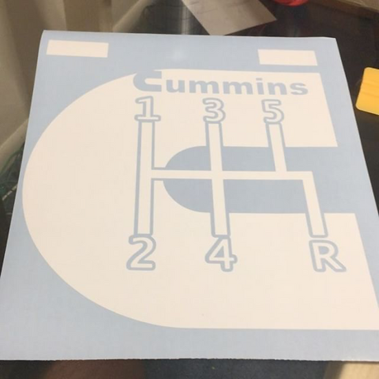 "6"" Cummins 5 Speed Decal"