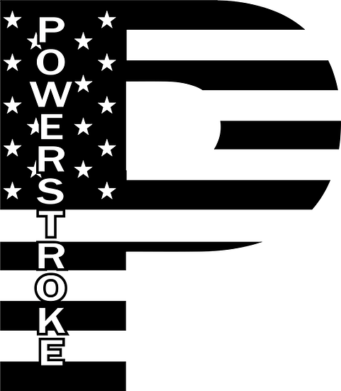 Powerstroke Flag Decal