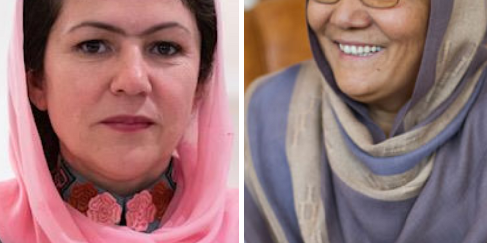 Dr. Sarabi and Nobel Peace Prize Nominee Fawzia Koofi on The Rights of Women in the Future of Afghanistan