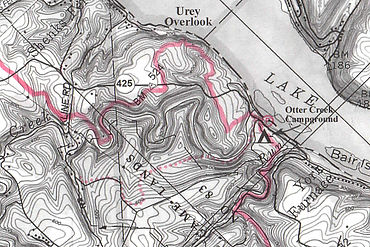 Map of the holtwood dam loop hike