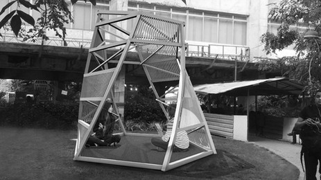 Makazi: A temporary installation in a college campus