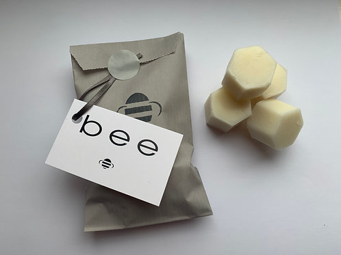 bee Beeswax Melts x4 Organic Lavender Essential Oils