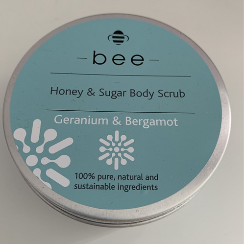 Geranium & Bergamot Sugar & Honey Body Scrub