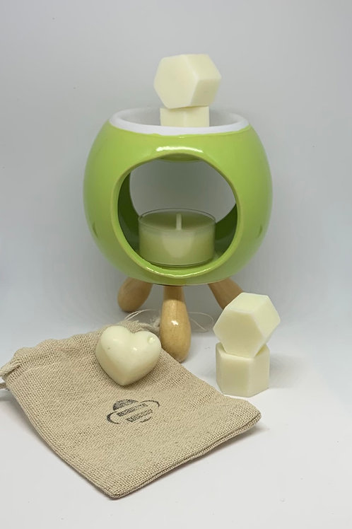 bee Calm Burner Gift Box + Melts (Green)