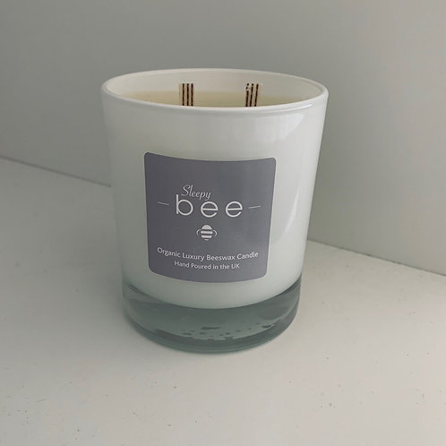 Large Organic Sleepy bee Beeswax Candle