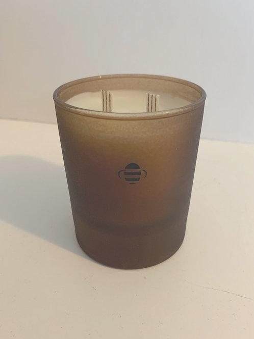Organic Geranium Beeswax Candle (Brown- Regular)