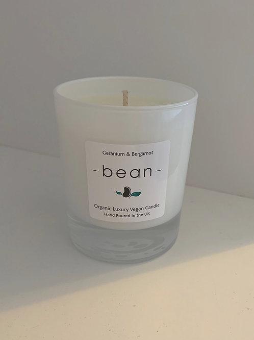 bean Vegan Geranium & Bergamot Candle (Regular)