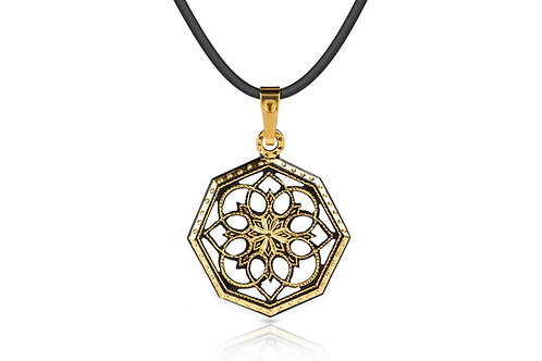 Damascene handmade pendant made with 24 kt. pure gold C 5