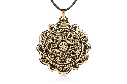Damascene handmade pendant made with 24 kt. pure gold C 13