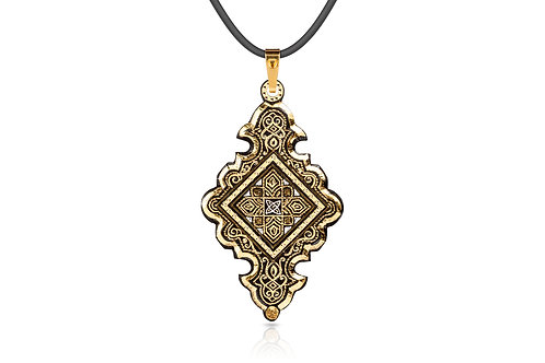 Damascene handmade pendant made with 24 kt. pure gold C 11