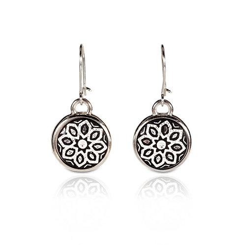 Damascene handmade earrings made with silver / s9